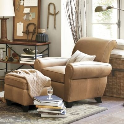 perfect chair for relaxing the paris leather chair and ottoman ballard designs love the. Black Bedroom Furniture Sets. Home Design Ideas