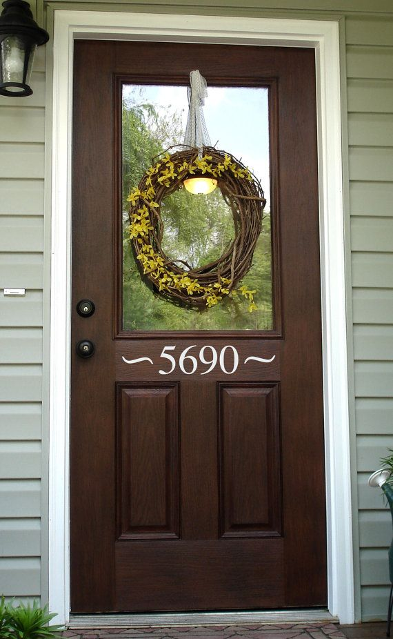 Best 20 Front door numbers ideas on Pinterest House address