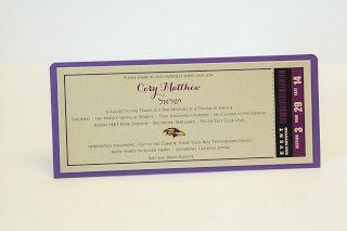 Ravens Ticket Invitation • Ravens Bar Mitzvah • Bar Mitzvah Invitations •Baltimore Invitations