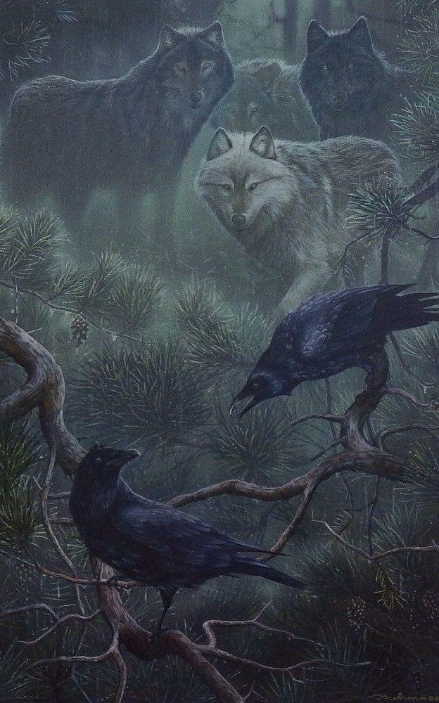 забывать, картинки волки с воронами завершения съемки