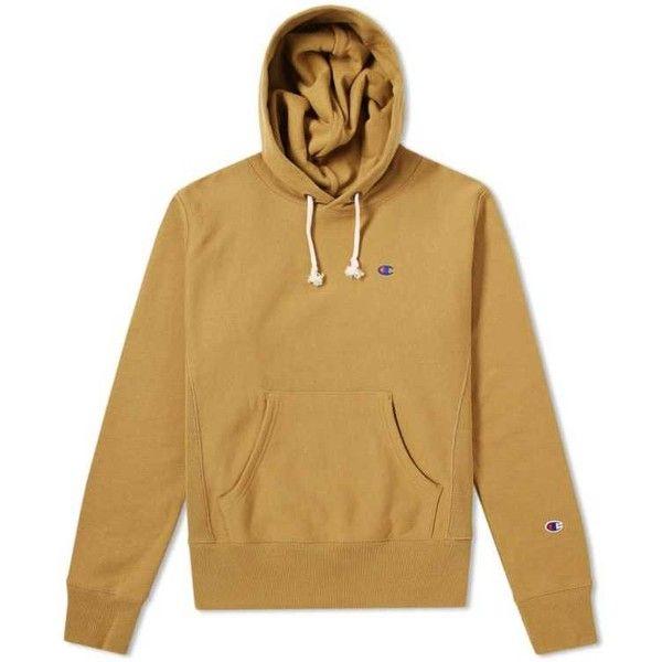 Champion Reverse Weave Classic Hoody ($99) ❤ liked on Polyvore featuring tops, hoodies, champion hoodies, hooded pullover, sweatshirt hoodies, sleeve hoodie and beige top