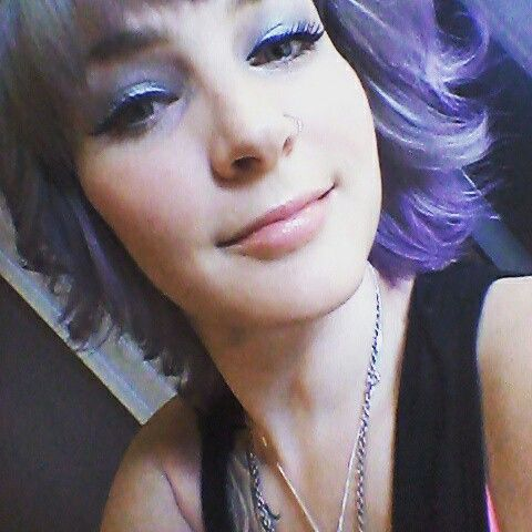 Silver and lavender hair <3 Chromasilk violet with Wella cooling violet roots