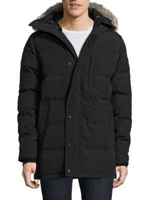 CANADA GOOSE Carson Coyote Fur Hooded Parka Black Label. #canadagoose #cloth #