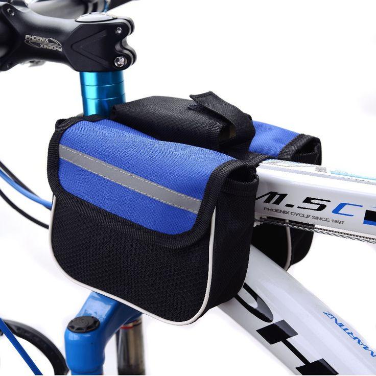 Купить товар2015 водонепроницаемый 3 цветов двойными бортами седло на велосипеде MTB велосипед сумки спорт рамка передней трубы велосипед сумка для Ourdoor велоспорт в категории Велосипедные корзинына AliExpress.