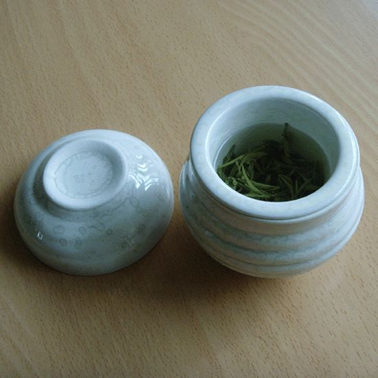 Single serve green tea teacup set / Made in Korea White / Hand made  teacup   !! #MadeinKoreaHandmade