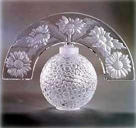 Lalique Crystal: Folie Perfume Bottle