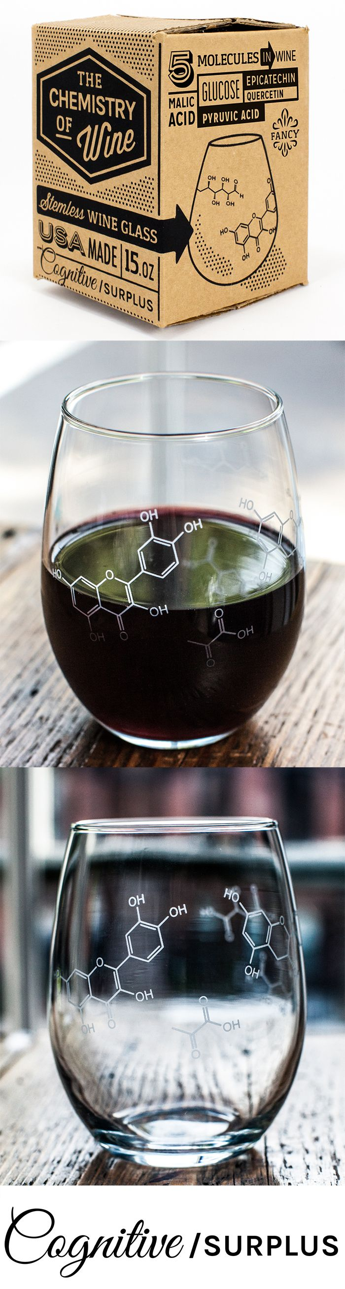 Raise this glass when you pass your comps, to celebrate a successful thesis review, or over a bottle of wine shared with your lab partner.   Add this one to your wish list!