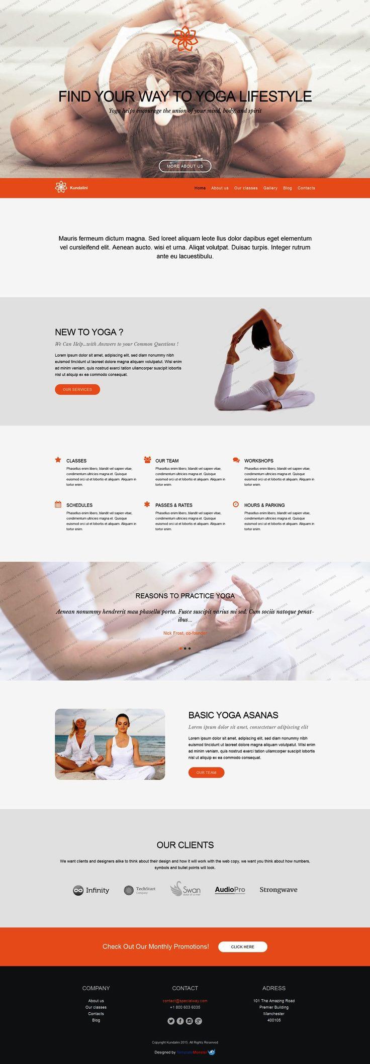 134 best free website templates images on pinterest templates free wordpress theme for yoga studio httptemplatemonster pronofoot35fo Choice Image