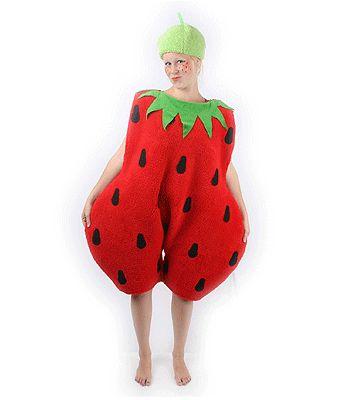 Aardbei kostuum. Aardbei kostuum voor volwassenen. Dit aarbei kostuum wordt geleverd inclusief aardbei hoedje. Het materiaal van dit aarbei pluche. Ruime pasvorm. Carnavalskleding 2015 #carnaval