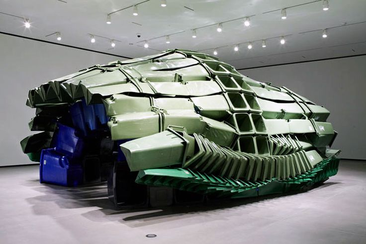 brian jungen carapace made from plastic recycling bins