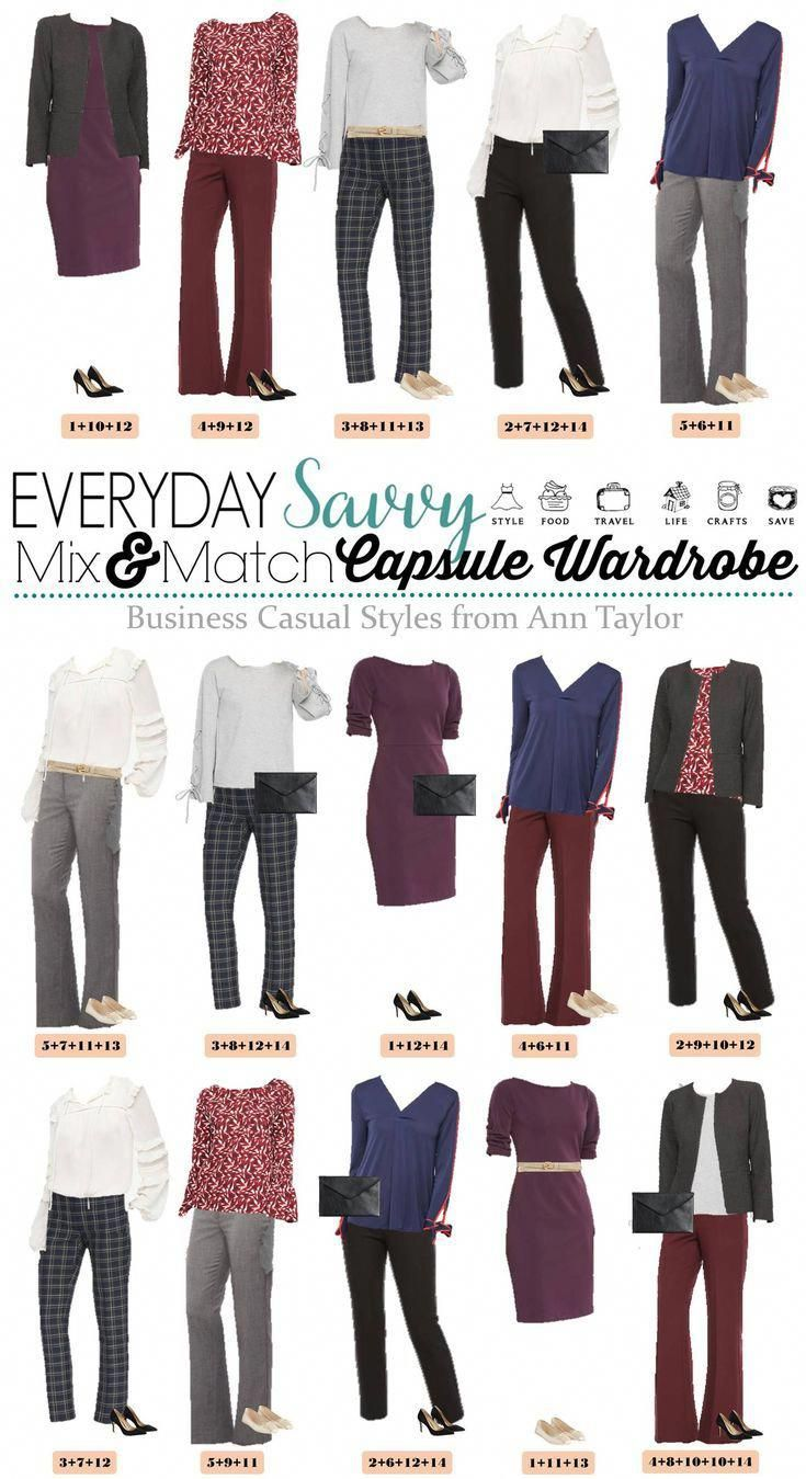 This Ann Taylor Business Casual Capsule Wardrobe Will Have