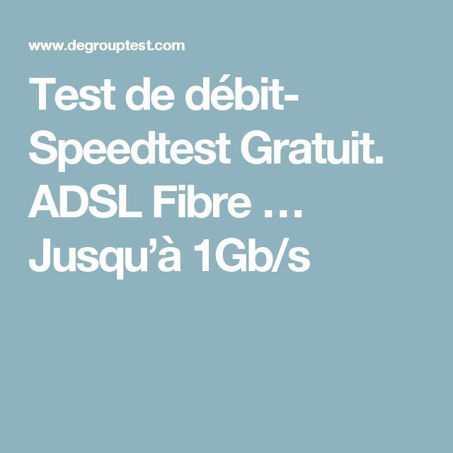 Test de débit- Speedtest Gratuit. ADSL Fibre … Jusqu'à 1Gb/s