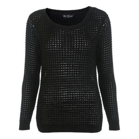 Buy Miss Selfrige Split Back Jumper, Black Online at johnlewis.com