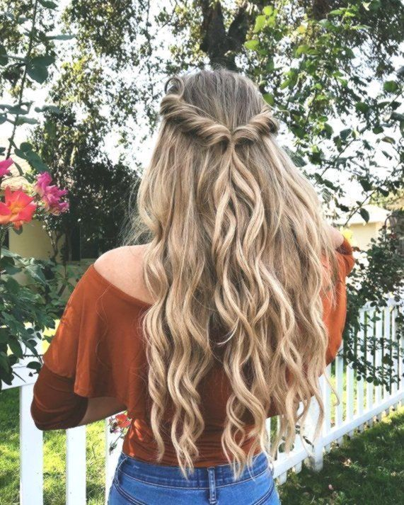 #Boho #Easy hairstyles wavy #simple # hairstyle #half #high