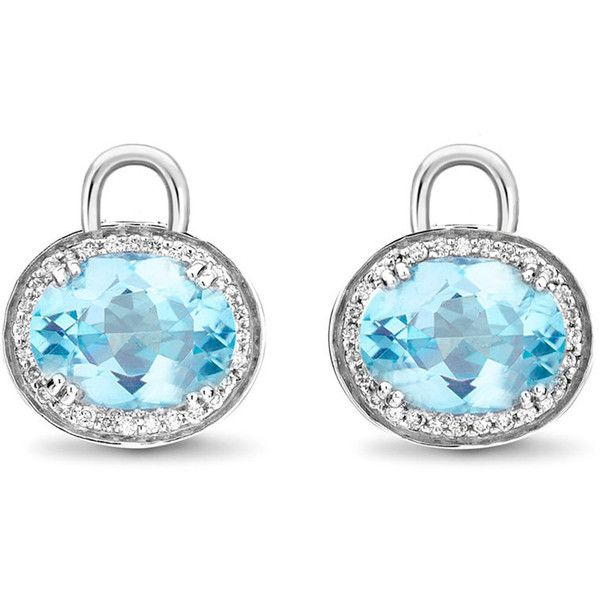 Kiki McDonough Oval Blue Topaz & Diamond Earring Drops ($3,525) ❤ liked on Polyvore featuring jewelry, earrings, kiki mcdonough earrings, oval diamond earrings, 18k earrings, 18 karat gold earrings and earring charms
