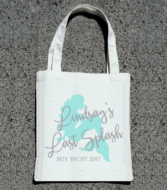 Last Splash Mermaid Theme Bachelorette Party Totes- Wedding Welcome Tote Bag by ilulily on Etsy https://www.etsy.com/listing/489490438/last-splash-mermaid-theme-bachelorette