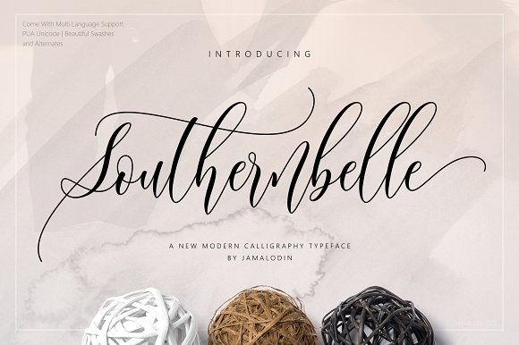 Southernbelle Script by Jamalodin on @creativemarket
