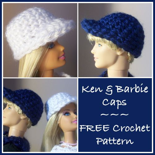 Ken & Barbie Caps Free Crochet Pattern