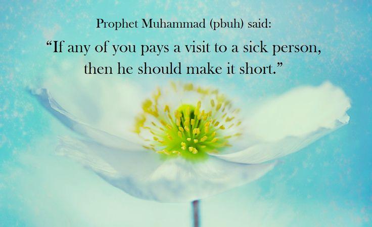 Visiting a sick person. (Islam)
