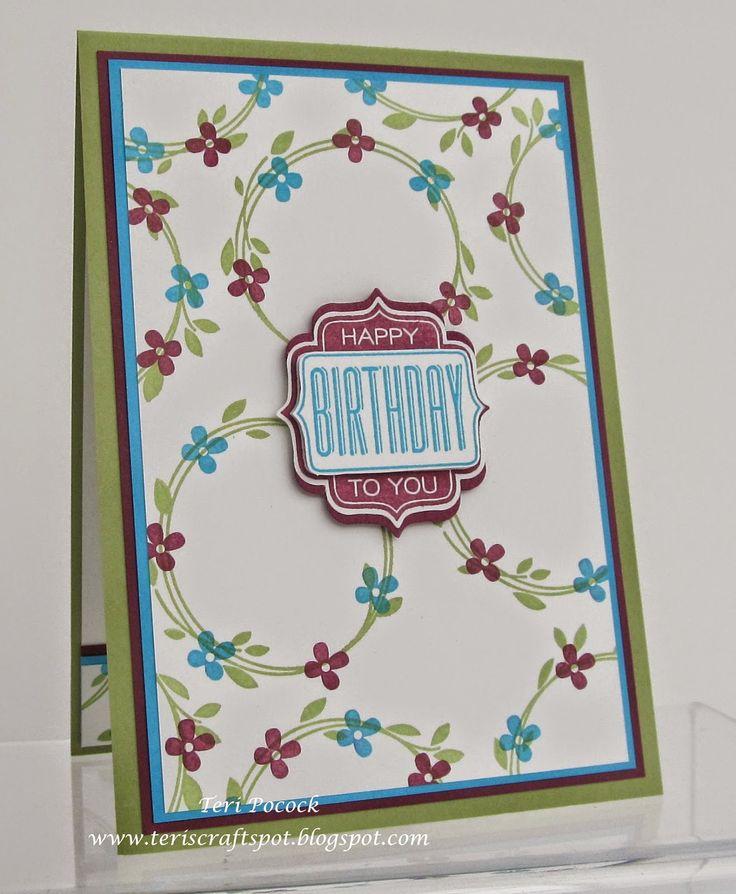 Stampin' Up! - Your Perfect Day - Birthday Card .... Teri Pocock - http://teriscraftspot.blogspot.co.uk/2015/04/your-perfect-day-birthday-card.html
