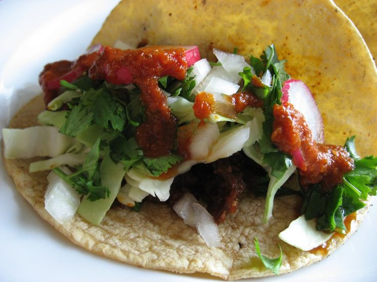 recipes for tacos images | Recipe: Beef Tongue Street Tacos with Chili Sauce | The Bald Gourmet