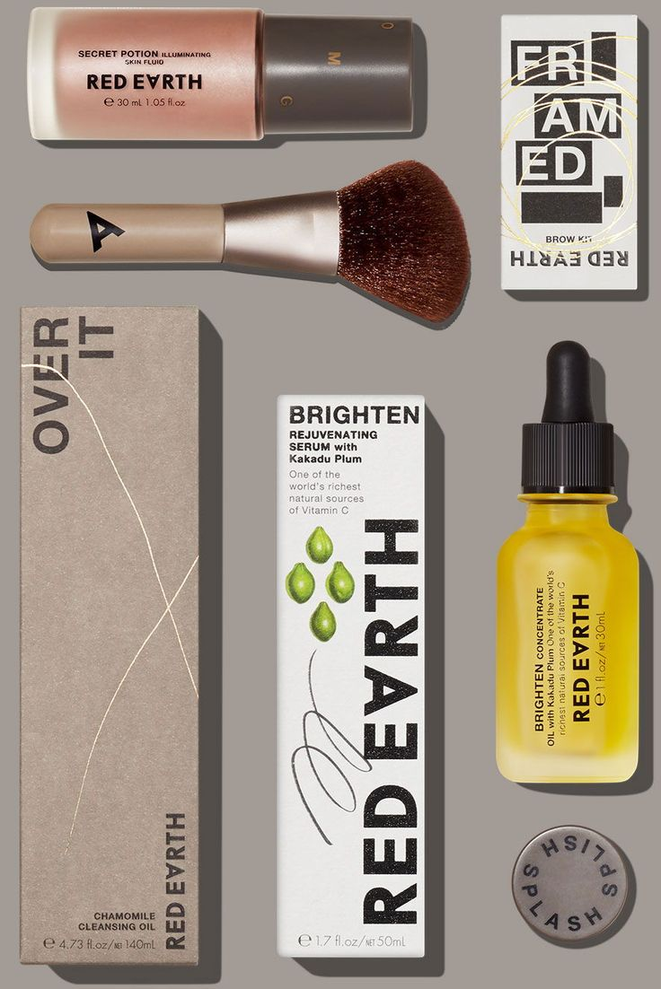 Red Earth Cosmetics Gets a Dynamic and Vibrant New Look 디자인