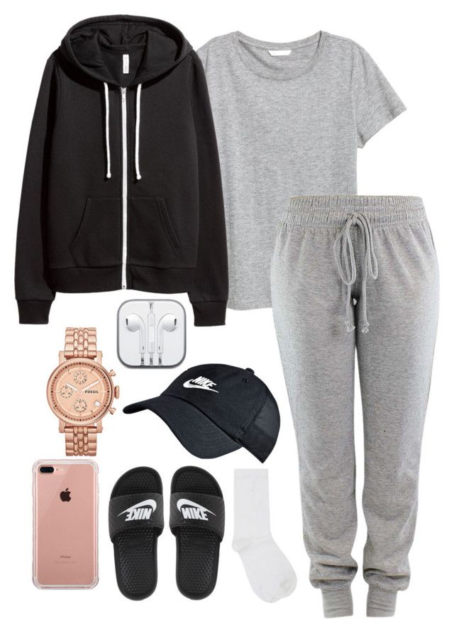 """""""Untitled #309"""" by kingrabia on Polyvore featuring M&Co, NIKE, H&M, FOSSIL and Belkin"""