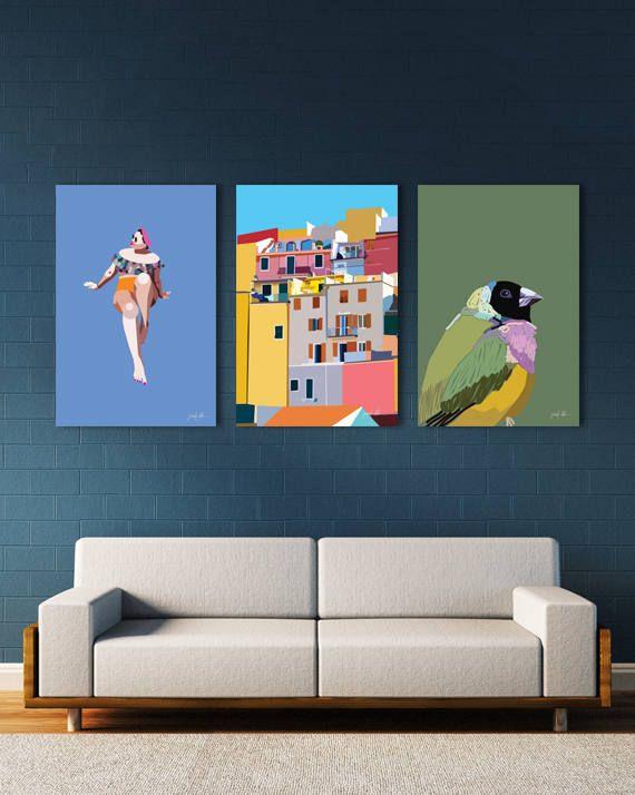 "Cinque Terre print Manarola Colorful art Italy Cinque Terre USE THE CODE ""PINTEREST"" TO RECEIVE 30% OFF!"