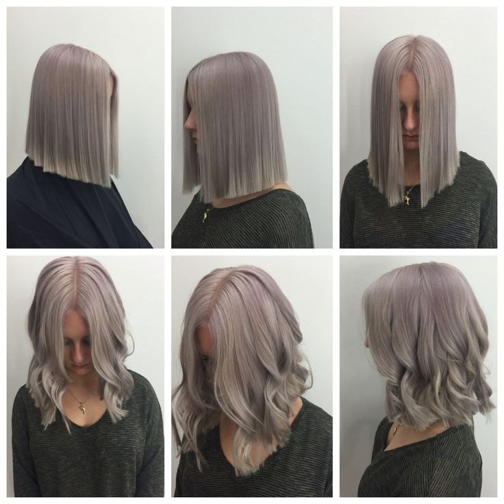 Great work in the salon today with muted mauve from instamatics.
