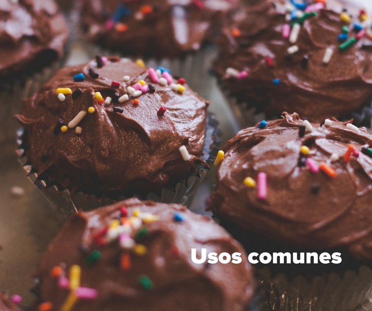 Usos comunes de chocolate