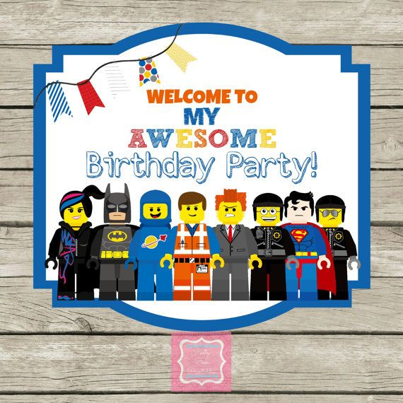 Awesome Birthday Party Lego Movie Welcome Door Sign By
