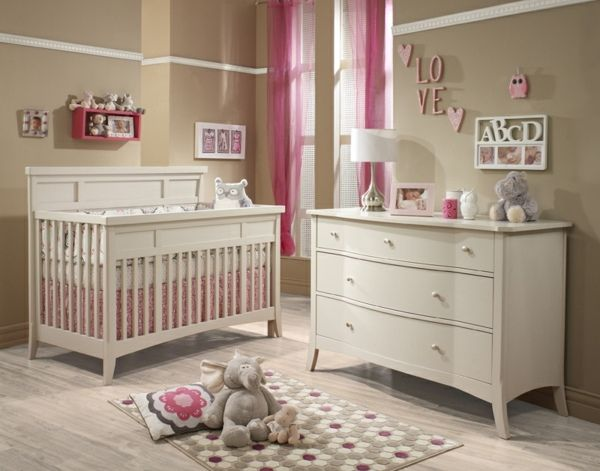 die 25 besten ideen zu babyzimer m dchen auf pinterest. Black Bedroom Furniture Sets. Home Design Ideas