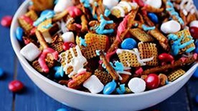 4th of july chex mix recipe