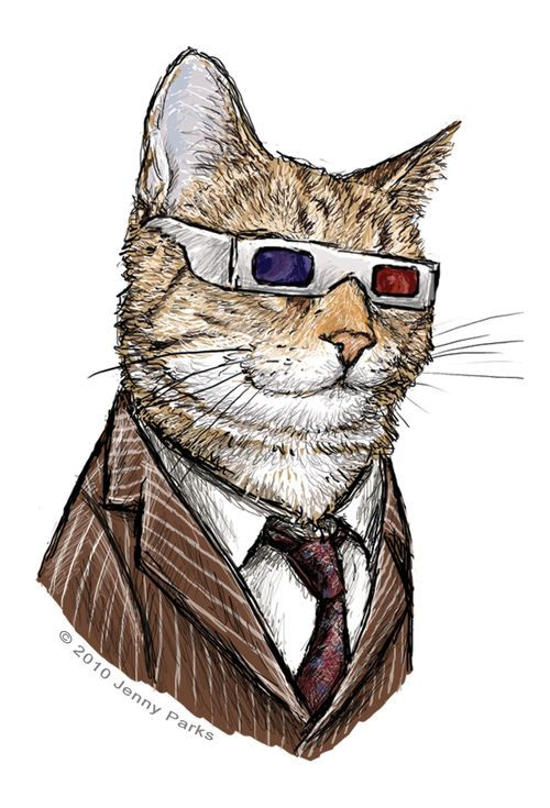 Doctor Who, 10 as a cat!