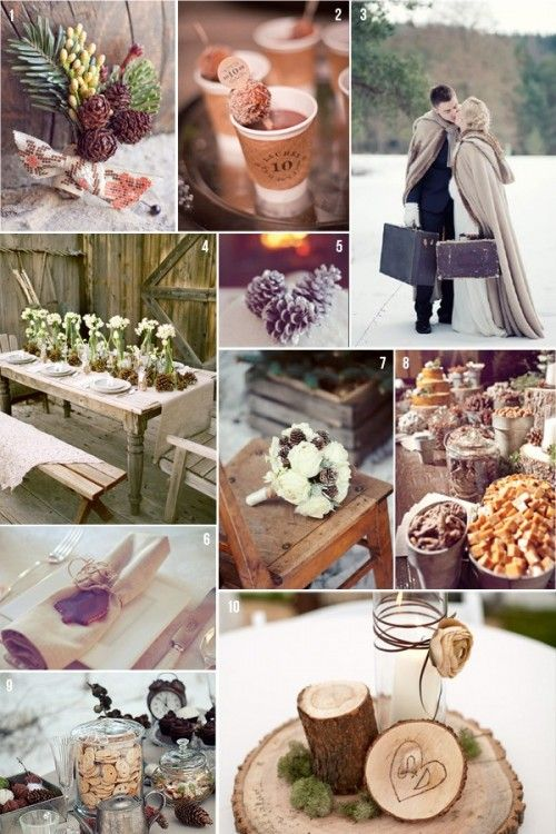 Winter Wedding Colors http://www.weddingcolorthemes.com/top-wedding-colors-themes/