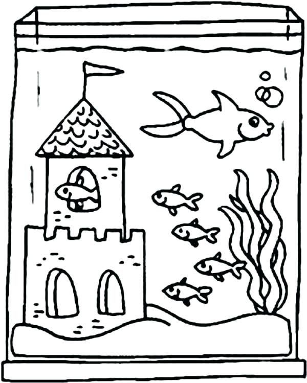 Fish Tank Coloring Page Aquarium Coloring Pages For Kids At Getdrawings In 2020 Coloring Pages Fish Tank Drawing Sesame Street Coloring Pages