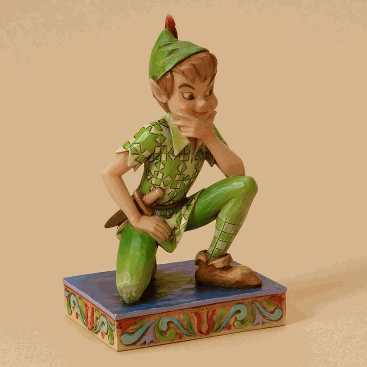 Peter Pan, the eternal mischievous boy, can continue to never grow up as part of the Personality Poses collection! http://www.coppinsgifts.com/heartwood-creek-by-jim-shore-disney-traditions-peter-pan-personality.html