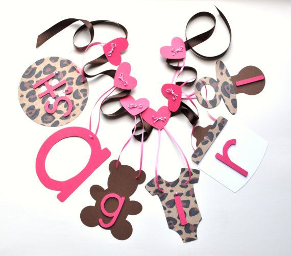 Cheetah baby shower decorations leopard it's a by ParkersPrints