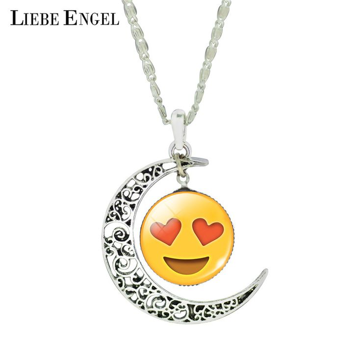 Find More Pendant Necklaces Information about LIEBE ENGEL Cute Emoji Vintage Silver Color Jewelry Fashion Moon Emoticons Collars 2016 Romantic Glass Cabochon Pendant Necklace,High Quality jewelry bear,China jewelry dog collars Suppliers, Cheap jewelry collar from LIEBE ENGEL Official Store on Aliexpress.com