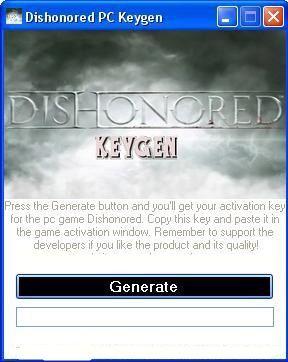 Dishonored Pc Crack Tool   Key Generator No Password Free Download
