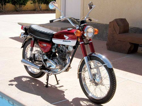 Chris Keele*s 1971 Honda CB100. Read about Chris' restoration of this bike at motorcycleclassic....