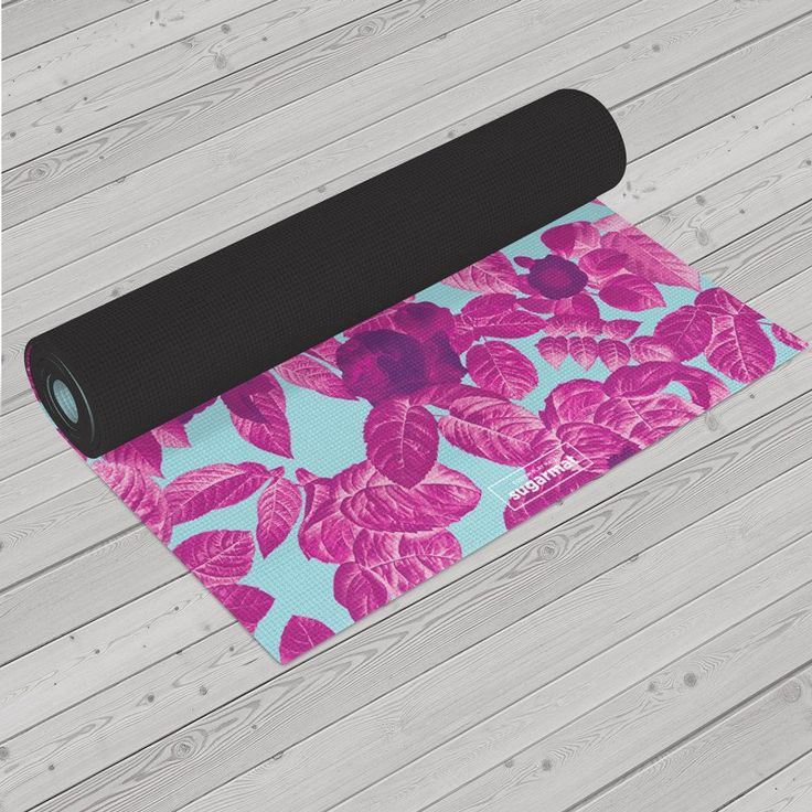 Custom yoga mat constructed of natural rubber with suede top in an Eco-conscious design for all levels of practice. Superior traction in wet and dry conditions.