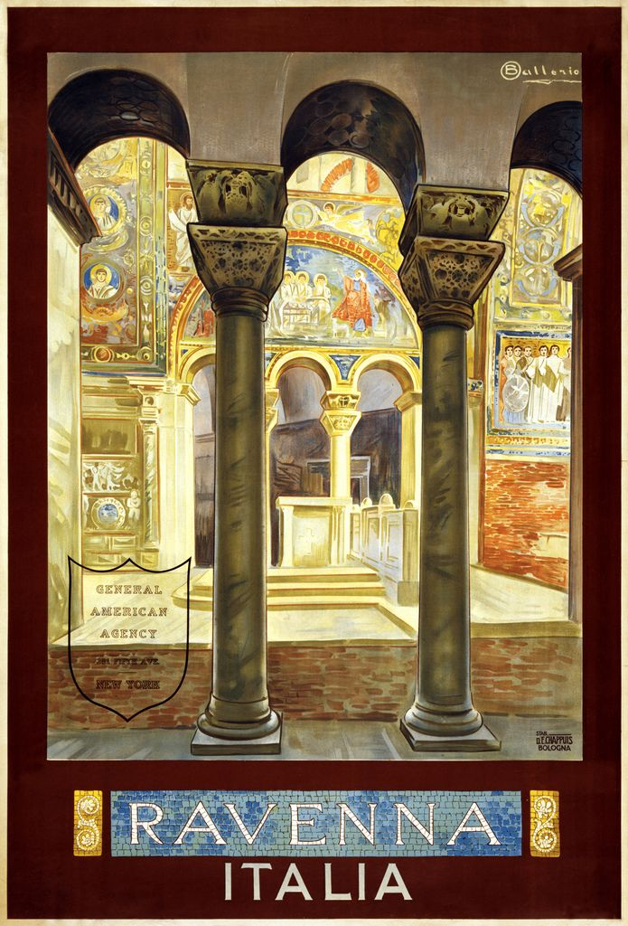Ravenna, Italia - Print by Stabilimento d'E. Chappius for General American Agency, New York (Osvaldo Ballerio, ca. 1925)