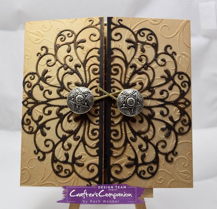 Card created with the new Die'sire 'Elizabeth' Create-a-Card die from #crafterscompanion