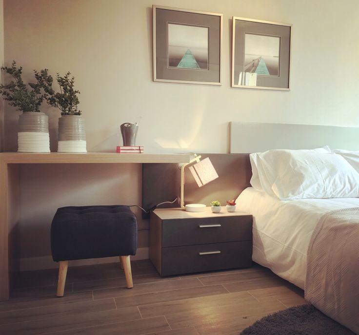 Dormitorio muy relajado en tonos de gris