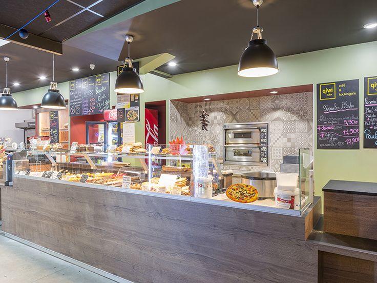 Creation agencement boulangerie café sandwicherie qiwi réalisé par www cadyspo com architecture d