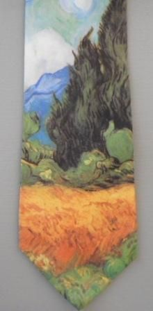 Wheat field with cypress by Vincent van Gogh