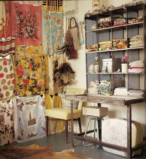.: Vintage Scarf, Scarf Curtains, Scarfs, Space, Vintage Linen