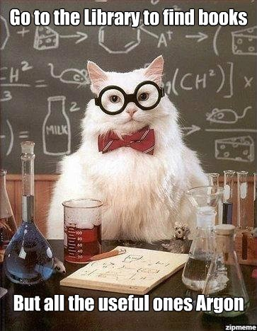 chemistry cat! #argon: Cats, Nerd, Chemistry Joke, Chemistry Cat, Funny, Humor, Chemistrycat, Science