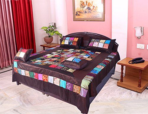 Silk Embroidery Half Tukdi Patch Work Bed Cover Brown Hom... https://www.amazon.com/dp/B072HN741W/ref=cm_sw_r_pi_dp_x_F7Nqzb5S6W9VX